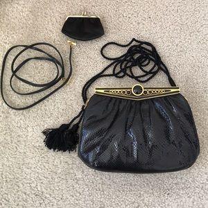 Vintage Judith Leiber Karung Shoulder Bag